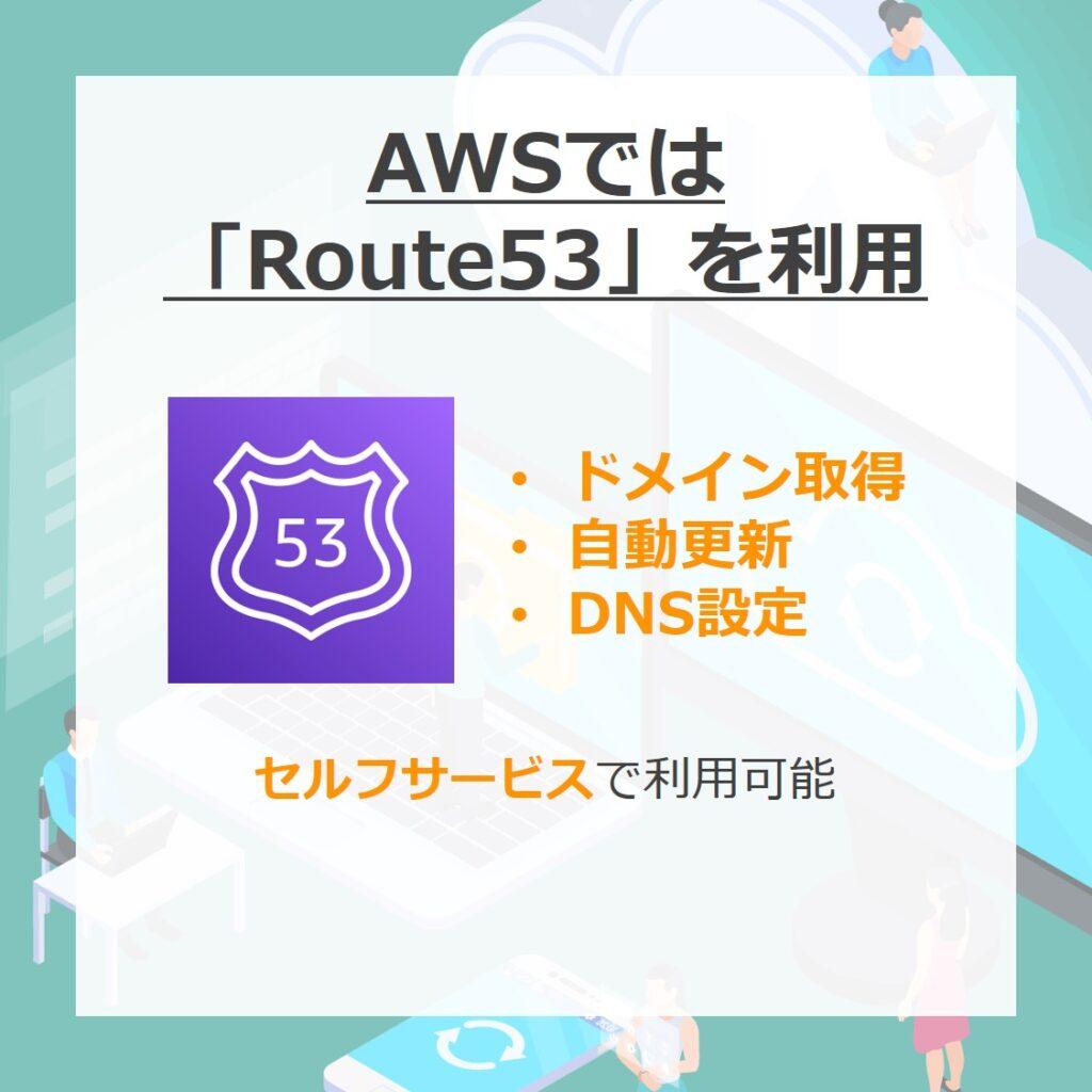 AWSではRoute53を利用