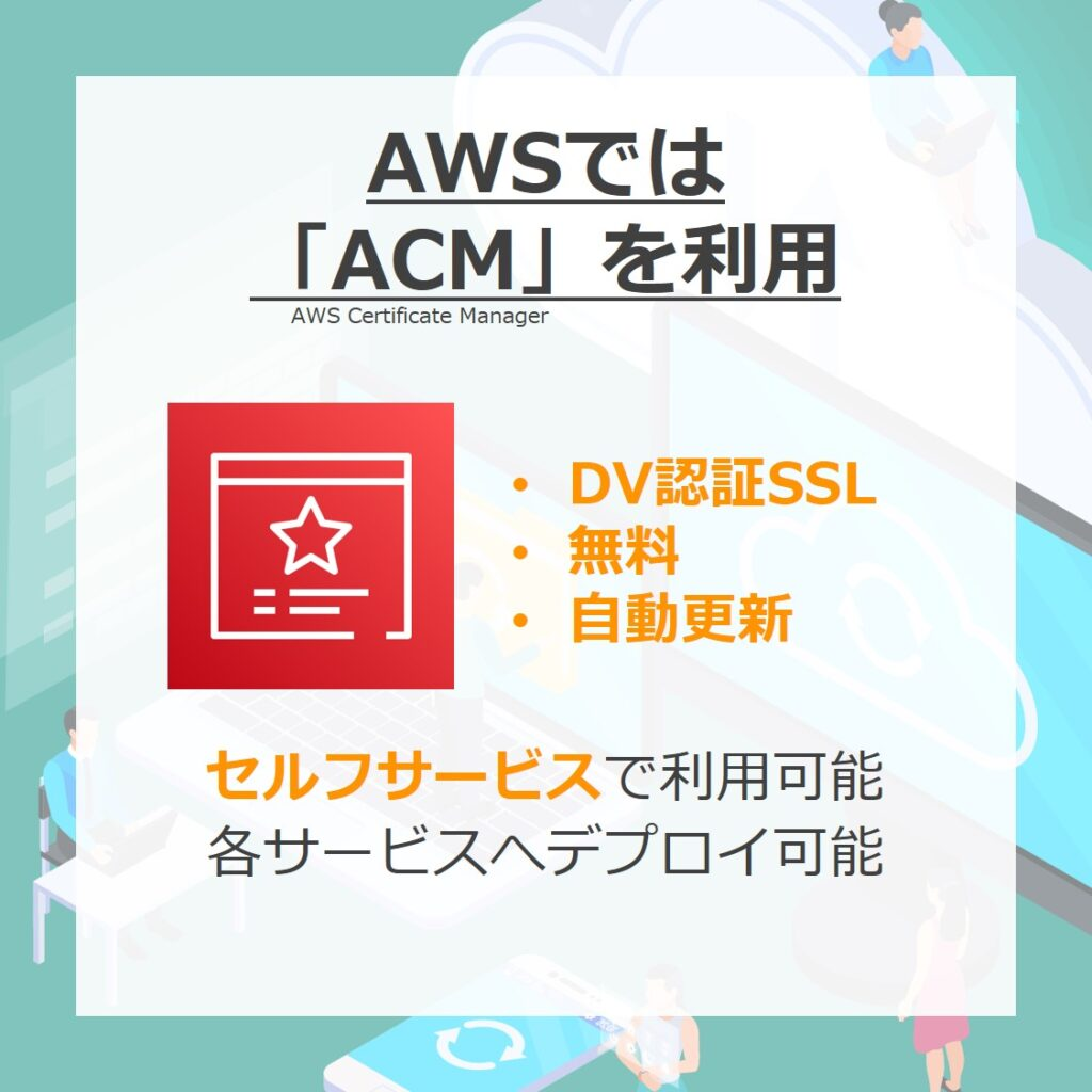 AWSではACMを利用